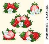 strawberry freshness fruit set