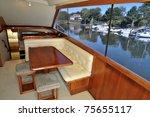 motor boat cabin interior  ...