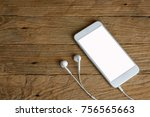 smartphone with isolated screen ... | Shutterstock . vector #756565663