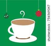 merry christmas hot chocolate | Shutterstock . vector #756569347