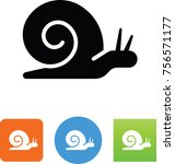 slow snail icon | Shutterstock .eps vector #756571177