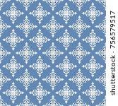 seamless vector decorative... | Shutterstock .eps vector #756579517