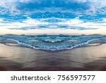 Ocean With Blue Water  Waves ...