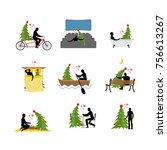 love for christmas tree... | Shutterstock . vector #756613267