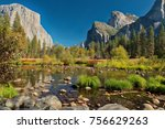 yosemite fall 2017 | Shutterstock . vector #756629263
