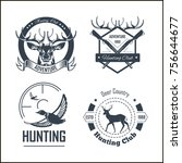 hunting club or hunt adventure... | Shutterstock .eps vector #756644677