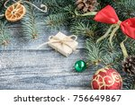 christmas or new year... | Shutterstock . vector #756649867