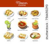 mexican food cuisine... | Shutterstock .eps vector #756650293