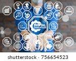 digital disruption healthcare... | Shutterstock . vector #756654523