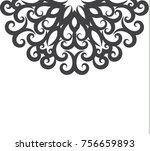 elegant vintage greeting card... | Shutterstock .eps vector #756659893