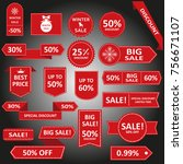sale label collection. sale... | Shutterstock . vector #756671107