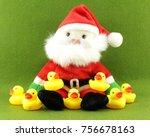 Santa Claus Doll And Yellow...