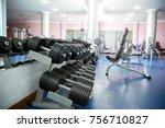 gym  dumbbells  equipment | Shutterstock . vector #756710827