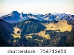 mangfall mountains at the... | Shutterstock . vector #756713653