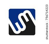 letter w and m vector logo   Shutterstock .eps vector #756714223