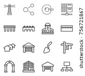 thin line icon set   lighthouse ... | Shutterstock .eps vector #756721867