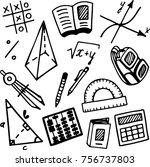 educational set. mathematics.... | Shutterstock .eps vector #756737803