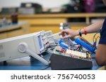 equipment in learning of... | Shutterstock . vector #756740053