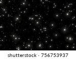 night sky with stars.  | Shutterstock . vector #756753937