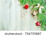 new year and christmas... | Shutterstock . vector #756755887