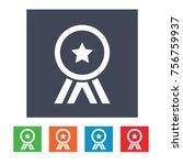 award vector icon   Shutterstock .eps vector #756759937