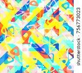 abstract 1980 memphis geometric ...   Shutterstock .eps vector #756773023