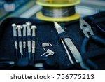 modern vaping device...   Shutterstock . vector #756775213