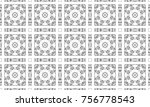 black and white mosaic seamless ... | Shutterstock . vector #756778543