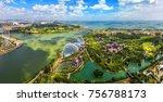 bird eyes view of singapore...   Shutterstock . vector #756788173