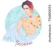 zodiac. vector illustration of... | Shutterstock .eps vector #756800053