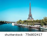 photo of eiffel tower and the... | Shutterstock . vector #756802417