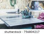 a woodworking machine | Shutterstock . vector #756804217