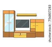 isolated furniture cabinets and ... | Shutterstock .eps vector #756807283