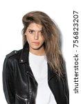 portrait of young attractive... | Shutterstock . vector #756823207