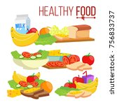 healthy food. diet for life... | Shutterstock . vector #756833737