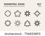 set of eight minimalistic... | Shutterstock .eps vector #756833893