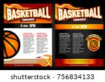 basketball tournament posters ... | Shutterstock .eps vector #756834133