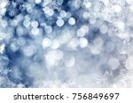 magic blue holiday abstract... | Shutterstock . vector #756849697