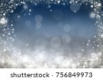 magic blue holiday abstract... | Shutterstock . vector #756849973