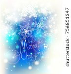 elegant christmas background... | Shutterstock .eps vector #756851347