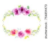 wildflower eustoma flower... | Shutterstock . vector #756854473