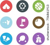 origami corner style icon set   ... | Shutterstock .eps vector #756861913