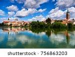 town telc  unesco czech... | Shutterstock . vector #756863203