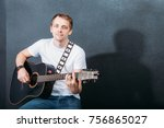 cheerful guitarist cheerful