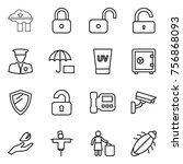 thin line icon set   factory... | Shutterstock .eps vector #756868093