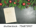 christmas background or xmas... | Shutterstock . vector #756873907