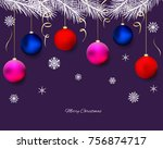 christmas decorations. new year.... | Shutterstock .eps vector #756874717