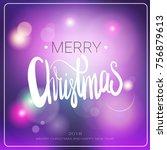 merry christmas message over... | Shutterstock .eps vector #756879613