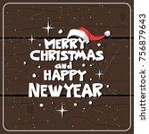 winter holidays card over... | Shutterstock .eps vector #756879643