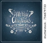 creative christmas icon vintage ... | Shutterstock .eps vector #756879733